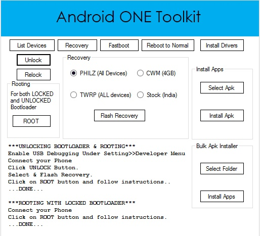 Android One tool for PC - Download & Rooting Tutorial